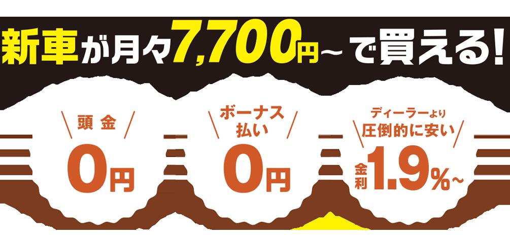 軽ワールドなら新車が月々7700円から買える!